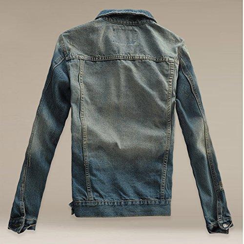 In Di Fit Giacche Cappotto Giacca Casual Denim Immagine Jeans Uomo Jacket Lunga Manica Come Slim Z5pEwqcP