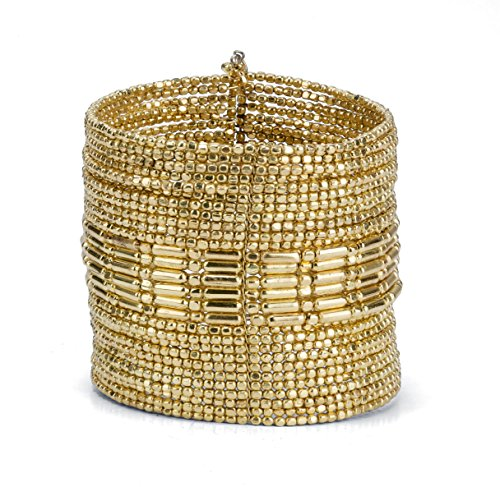 - SPUNKYsoul New! Boho Gold Metal Cuff Bangle Bracelets for Women l Collection (Gold)