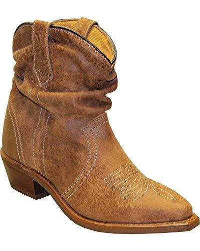 - Abilene, Women's Sage by Short Slouch Western Boot Snip Toe Tan, 7 M