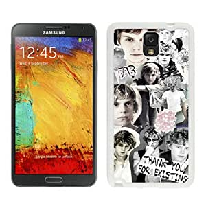 Newest And Fashionable Samsung Galaxy Note 3 Case Designed With Evan Peters 4 White Samsung Galaxy Note 3 Screen Cover High Quality Cover Case