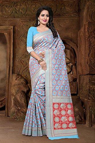 Da Facioun Saris Indiens Pour Les Femmes Bleu Porter Partie Design Ethnique De Mariage Traditionnel Sari 101