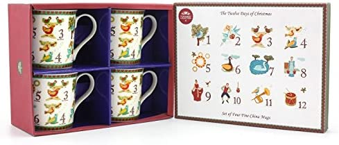 NEW Festival Santa /& Snowman Winter Scene Mug Gift Set Leonardo Xmas Gift