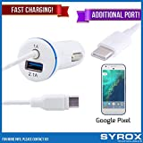 Syrox 50-Pack Type-C Car Charger & Port, Reversible 4 ft Fast Charging for Google Pixel, Samsung Galaxy Note 8, S8 Plus, LG V30, V20, G6, G5, Google Pixel, 6P, Nintendo Switch and All