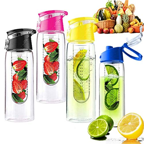 Bottle 1PCS 800ml Cycling Sport Fruit Infusing Infuser Water Lemon Hot Pink ()