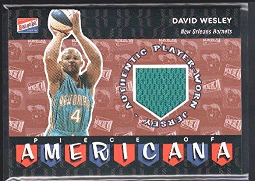 DAVID WESLEY 2003/04 TOPPS BAZOOKA PIECE AMERICANA HORNETS RELIC JERSEY SP $15