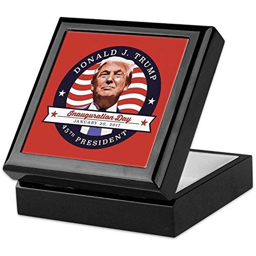 CafePress - President Trump - Inauguration Day - Keepsake Box, Finished Hardwood Jewelry Box, Velvet Lined Memento Box ()