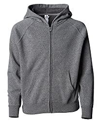 Global Blank Little Girls Full Zip Toddler Hooded Sweatshirt For Little Kids 2t Light Grey