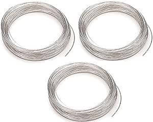 200pcs Bijoux Fil Silvertone Memory Beading Wire Bracelet rigide en acier pour fil