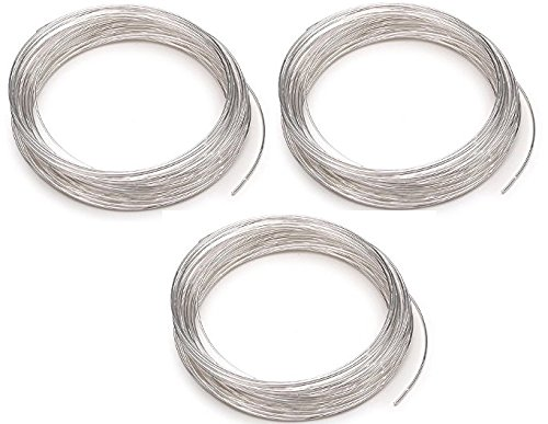 Memory Designs Bracelet Wire (Beadalon 347B-050 Silver Plated Memory Wire Bracelet, 1/2-Ounce/Pkg, Approximately 30 Loops (3 Pack))