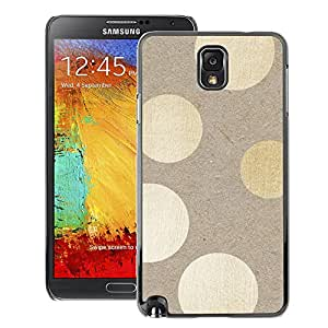 A-type Arte & diseño plástico duro Fundas Cover Cubre Hard Case Cover para Samsung Note 3 N9000 (Polka Dots Wood Pattern Bling)