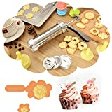 BeautyBouse Multifunction Biscuit Press Maker Machine Cookie Nozzles Press Pump Cake Making Decorating Set DIY Baking Shaper Tools