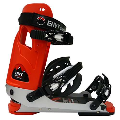 (Envy Ski Boot Frame - Comfortable Ski Boots (Red, Large))