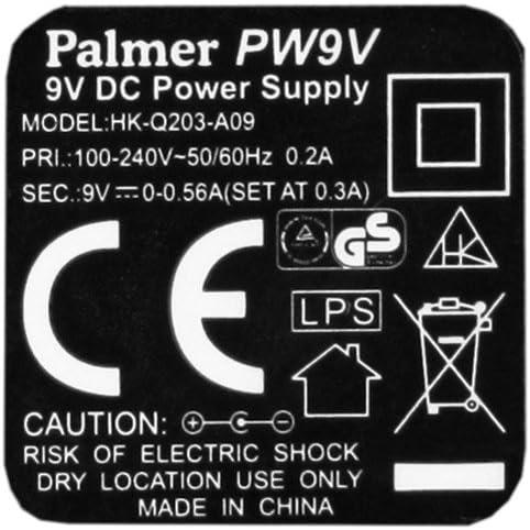 500mA PALMER MI PW9V 9V Netzteil 9V DC