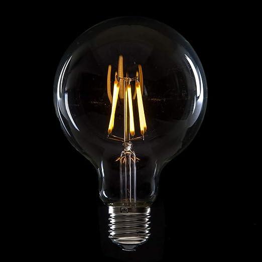 Greenice | Bombilla de LEDs Filamento Vintage G95 E27 6W 600Lm Isla | Blanco Cálido