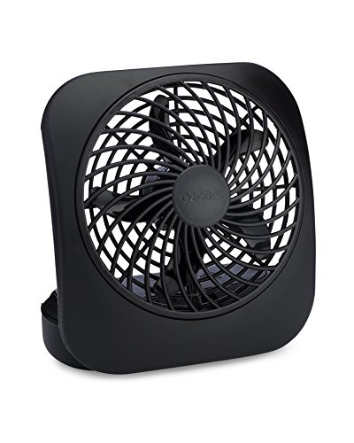 O2COOL FD0500400O006AMB 5-Inch Portable Fan, Black, 1 Unit,