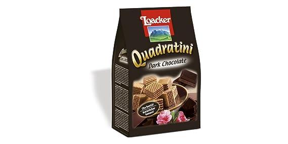 Loacker Quadratini Dark Chocolate, 250g Wafers Biscuits at amazon