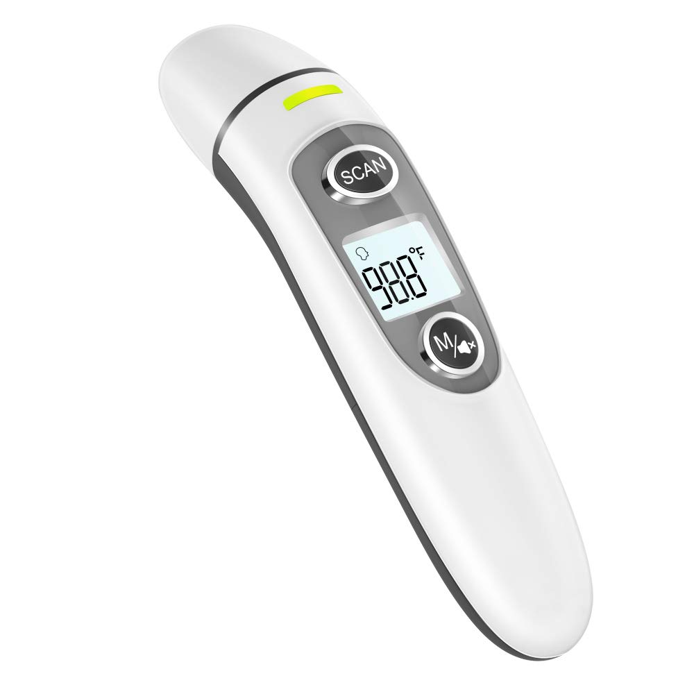 Thermometer for Adults,Touchless Digital Infrared Thermometer for Fever, Ear and Forehead Thermometer for Baby and Kids, with LCD Screen, Memory Recall, Fever Alarm
