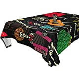 My Little Nest Rectangle Tablecloth Dance Skeletons Washable Fabric Table Cover for Picnic Party Kitchen Dining Decor 60x120 inch