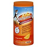 Cheap Metamucil Daily Fiber Supplement Orange Smooth 72 Tablespoons, 30.4 oz