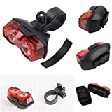 1 Pc Glistening Unique 2x LED Flashlight 3 Modes Bike Lights Bicycle Cycling Night Light Bright Tail Head Front Rear Safety Flashing Headlight Camping Tactical LEDs Flashlights Torch Lamp Color Red