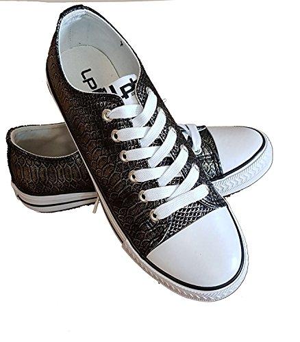 P'tites de Material Les negro Sintético Zapatillas Bombes de Deporte Mujer qBTwx