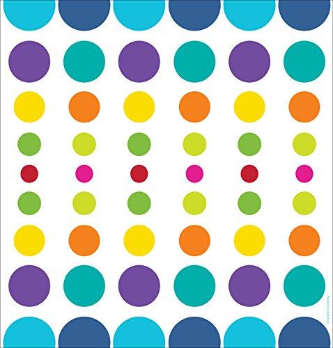 Creative Converting 725834 Border Print Plastic Table Cover, 54 by 108'', Birthday Pop, White/Blue/Orange
