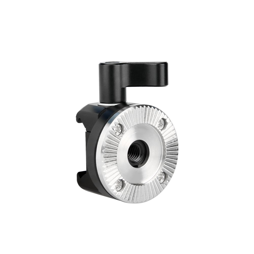 NICEYRIG NATO Clamp to ARRI Standard Rosette Mount Adapter (M6 Thread Diameter 31.8mm) for Wooden Handgrip with ARRI Style Rosette Quick Lock and Release