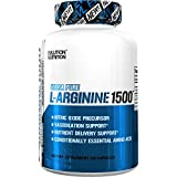 Evlution Nutrition L-Arginine 1500 mg, Ultra-Pure Nitric Oxide Supplement, Muscle Growth and Vascularity, Energy and Stamina, Powerful NO Booster, Essential Amino Acids (100 Capsules)