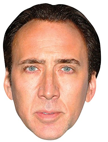 Nicolas Cage Celebrity Mask, Cardboard Face and Fancy Dress Mask (Celebrity Face Masks)