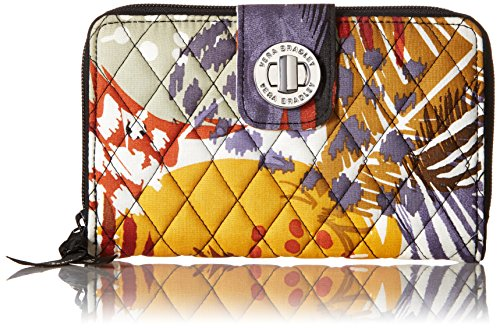 Vera Bradley Women's Turnlock Wallet, Painted Feathers, One Size
