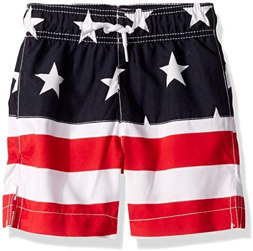 Big Boys' Graphic Printed Swim Trunks Tidal XL (14) [並行輸入品]