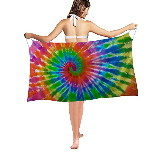 Nakgn Swimwear Cover up Bikini Smock Rainbow Tie-Dye Scarf Skirt