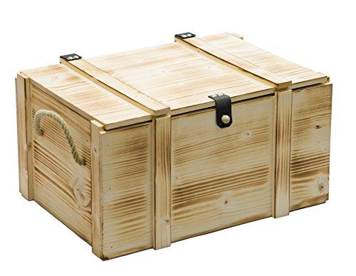 Weinkiste 6er geflammt inkl. Holzwolle / Holzkiste / Geschenkbox / Aufbewahrungsbox / Überraschungskiste / Weinbox / Hochzeitskiste (6er Weinbox)