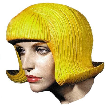 MostaShow Red/Blue/Yellow Full Head Wig Latex Cosplay Costumes