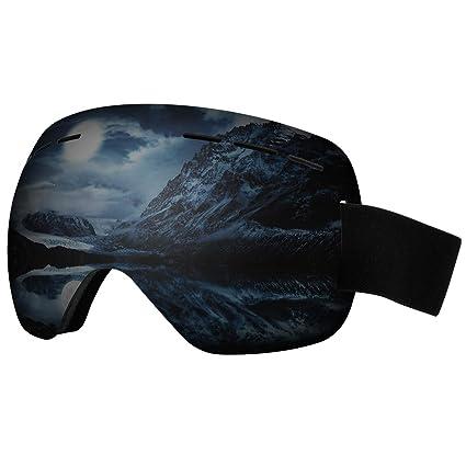 e3b62ec2338 LJDJ Ski Goggles - Snowboard Frameless Snow Goggles Adjustable 100% UV  Protection Oversize Winter Outdoor