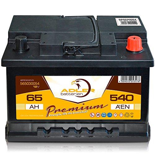 Autobatterie 12 V 65 Ah 540 A En 56530 Adler Ers 45 50 55 60 62