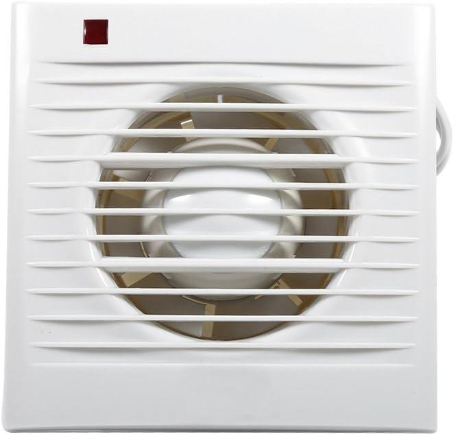 Zerone Ventilador Extractor, Ventilador Extractor Silencioso la Pared Ventilador Baño Cocina Extractor Color Blanco 220V 4Pulgadas