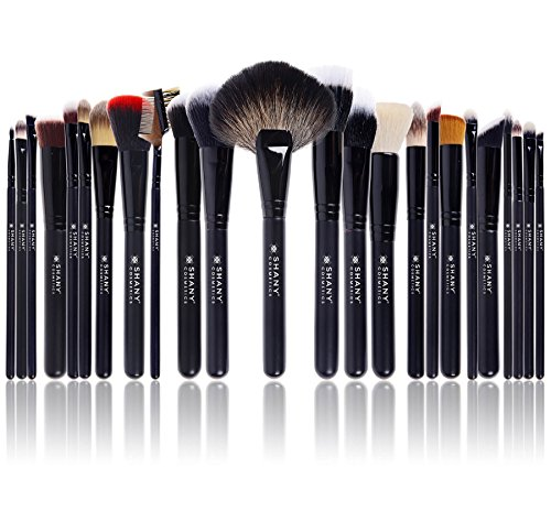 SHANY Pro Signature Brush Set 24 Pieces Handmade Natural/Synthetic Bristle with Wooden Handle, The Masterpiece (Makeup Brush Pro)