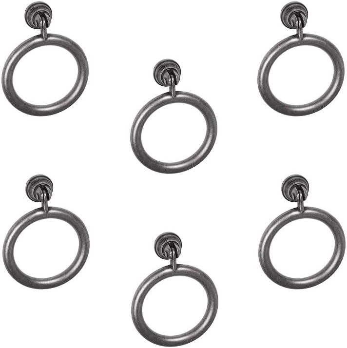 poign/ées de meuble anneau noir rouille tiroir classique 6 Un diam/ètre 60MM