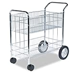Fellowes Worcester Mail Cart, Chrome