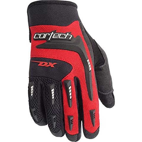Cortech DX 2 Men's Textile Street Racing Motorcycle Gloves - Black/Red / X-Large - Textile Motorcycle Gloves