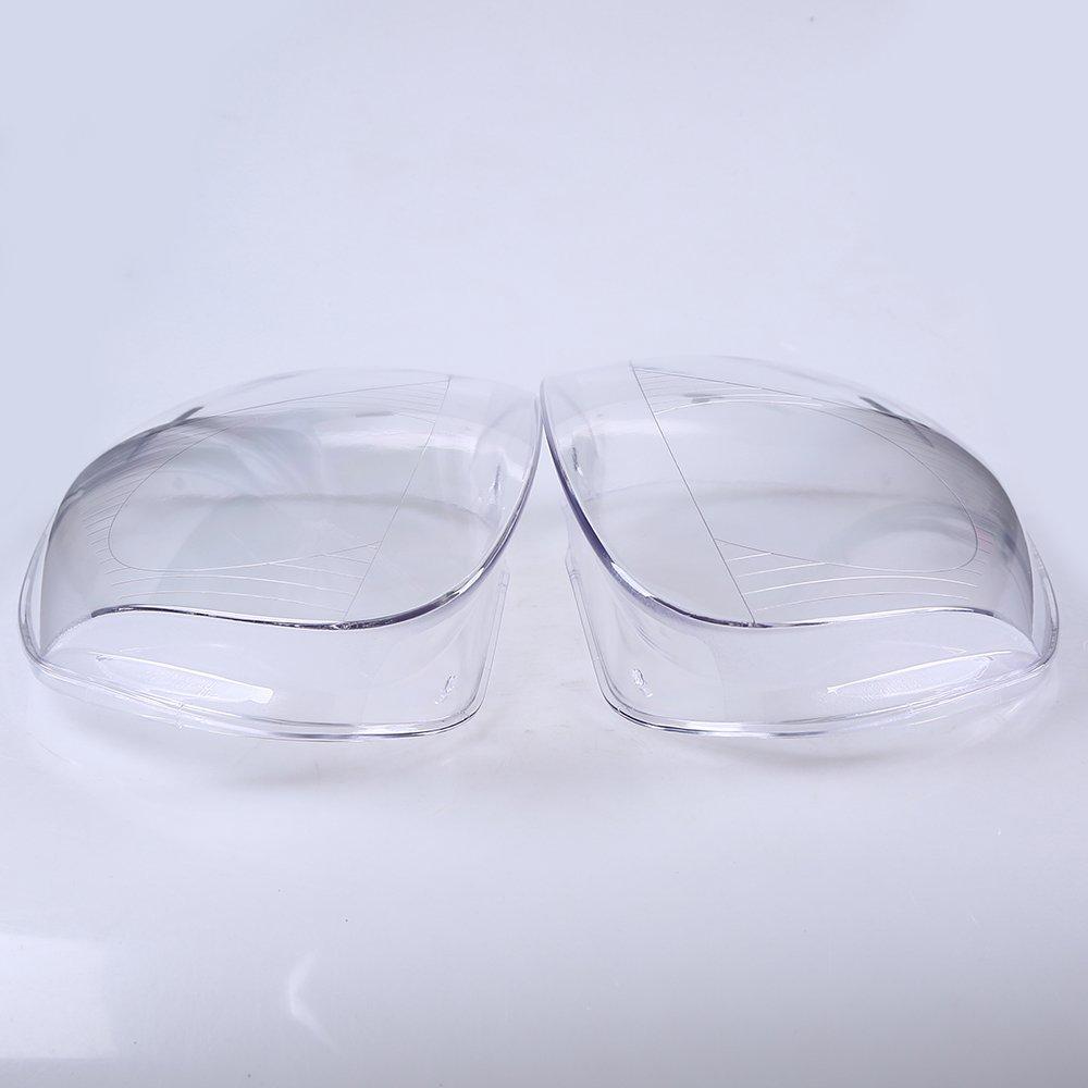 POSSBAY Plastic Car Headlight Headlamp Lens Cover Replacement