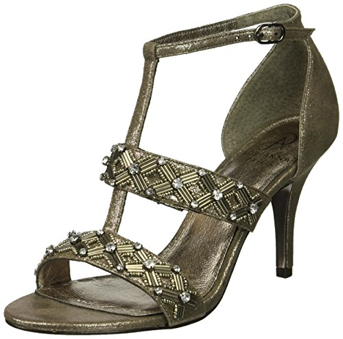 Adrianna Papell Women's Amabel Heeled Sandal, Pewter, 7.5 M US