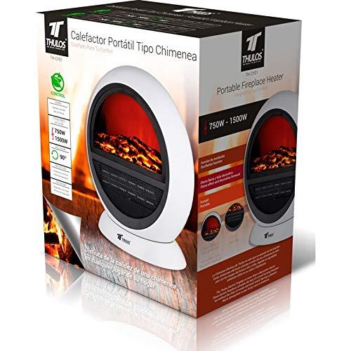 Calefactor portátil tipo Chimenea eléctrica. THULOS TH-CY01: Amazon.es: Bricolaje y herramientas