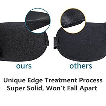 Eye Mask For Sleeping 2 Pack, Sleep Mask With Adjustable Strap 3d Contoured Shape Good Night Eyeshade For Women, Men, Soft Comfort Blindfold Great For Travel, Shift Work & Meditation (Black & Blue) 2