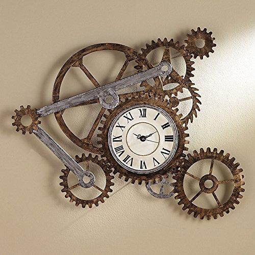Antique Look Wall - Gear Wall Clock