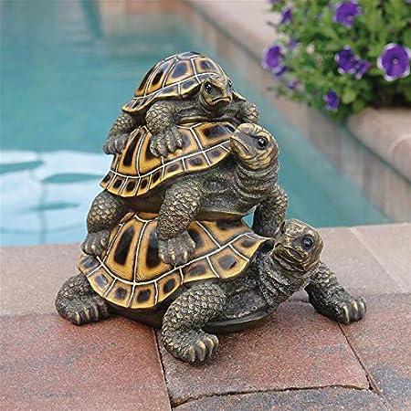 Amazon.com: Design Toscano en buena compañía Rana y tortugas ...