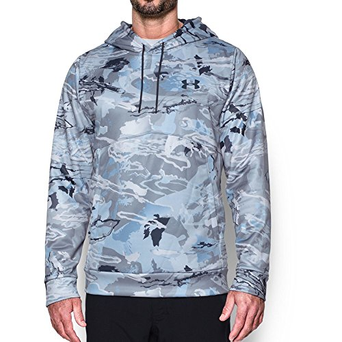 Under Armour Men's Storm Camo Hoodie, Ridge Reaper Camo Hy/Stealth Gray, Small