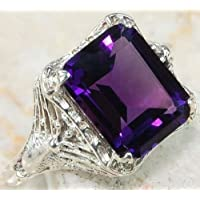 Morning light Antique Opal Brithstone 925 Silver Ring Wedding Engagement Women Jewelry Sz 6-10 (10)