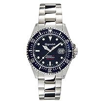 Gigandet Automatik Herren-Armbanduhr Sea Ground Taucheruhr Uhr Datum Analog Edelstahlarmband BlauSilber G2-009